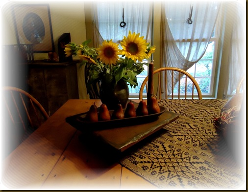 Sunflowers dining room