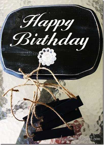 Happy Birthday Sign - Tutorial 6