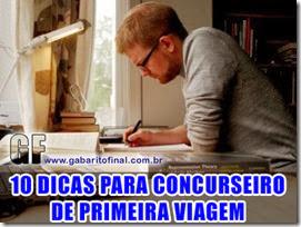 10 DICAS CONCURSEIRO PRIMEIRA VIAGEM