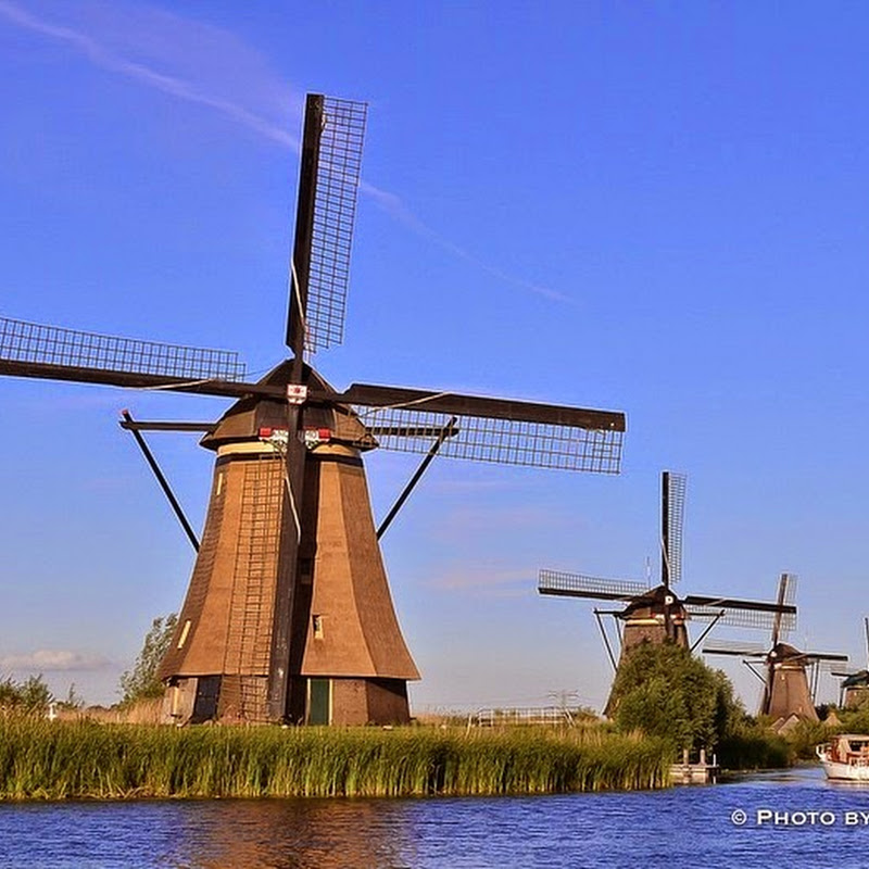 The Windmills of Kinderdijk