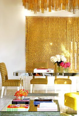 Shimmering gold decor even looks beautiful in everyday interior design. (Living Etc.)