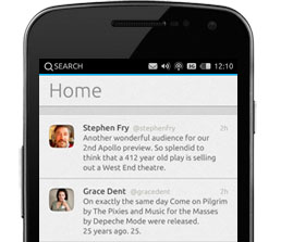 applicazione Twitter su Ubuntu Touch