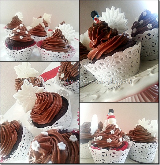 Dolce aroma cupcakes al cioccolato con decorazioni in for Pasta di zucchero decorazioni