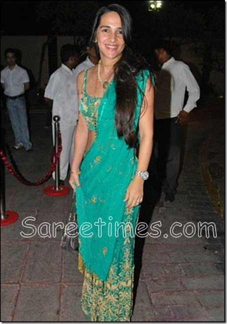 Tara_Sharma_Green_Saree