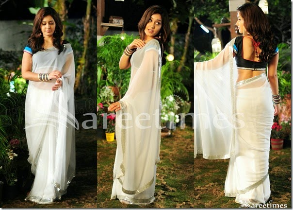 Rashi_Khanna_White_Georgette_Saree