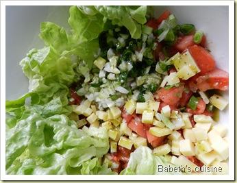 salade à l'huile verte 2