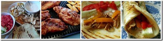 Chicken Shawarma Collage