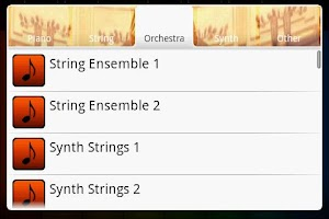 Screenshot of Orchestra - Midi Piano