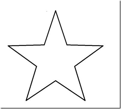 Plantillas estrellas y rbol de navidad para manualidades - Plantilla estrella navidad ...