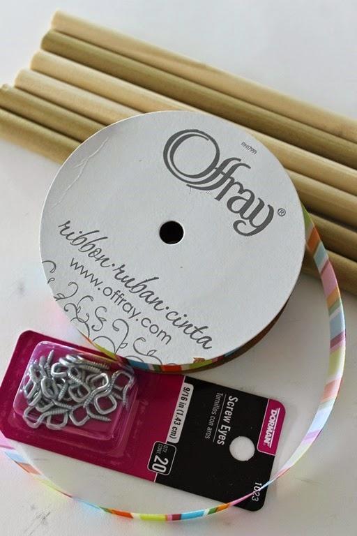 supplies to make a ribbon wand