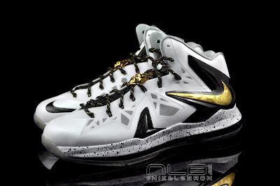 lebron10 ps elite white gold 38 web black The Showcase: Nike LeBron X P.S. Elite+ White & Gold