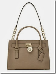Michael Michael Kors Light Brown Leather Hamilton Bag