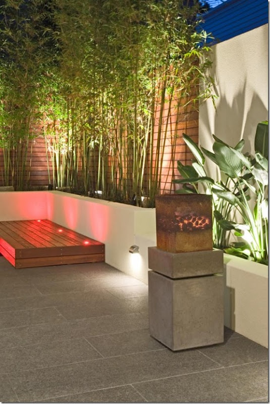 Garden design, Courtyard, contemporary, raised planters, water feature, modern design, landscape design,