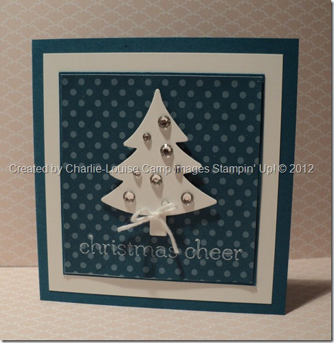 stampin up christmas cards christmas trees blue christmas holiday framelit sweet essentials