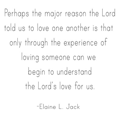 love one another -- elaine l
