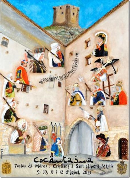 Cartell Festes de Moros i Cristians COCENTIANA 2013 (Autor Francisco Prats)