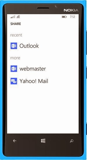 Share Email Screen in Windows Phone 8.1 (www.kunal-chowdhury.com)