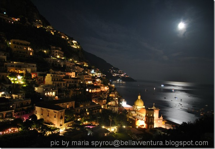 Positano full moon