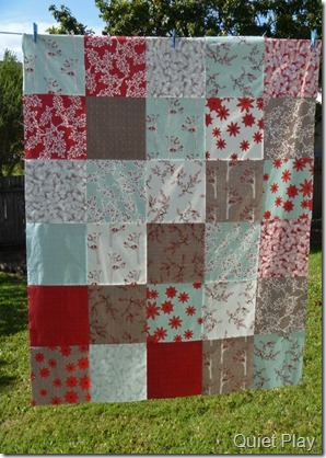 Winter's Lane quilt top