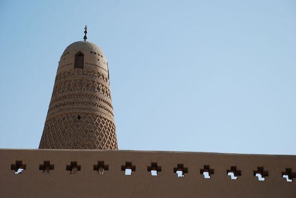 Turfan - Minaret Emin détail frise et tour
