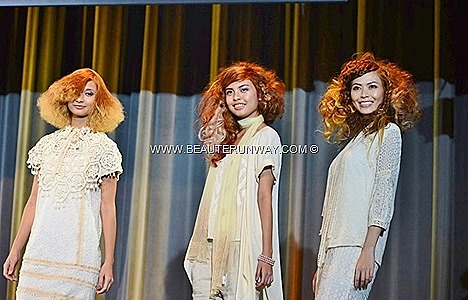 AVEDA SPRING SUMMER 2013 JERIC HAIR SALON STYLISTS HAIRDRESSER  SINGAPORE  CATWALKS WATER Natural sun-kissed layers frame face, flushed coppers dark light combinations sun shadows balances color wearable flattering london fashion