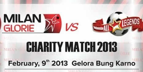 Indonesia All-Stars 2013 vs AC Milan Glorie