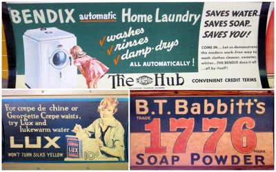 Trolley ads laundry