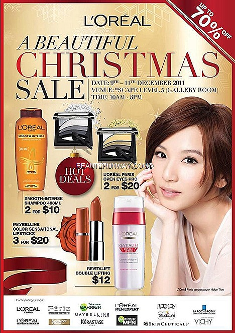 L'Oreal Warehouse Sale 2011 Vichy LRP Maybelline Garnier Keratase Redken Hair SCAPE Orchard Road Singapore