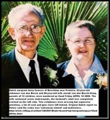 VAN DEN BOSCH couple murdered on dairy farm