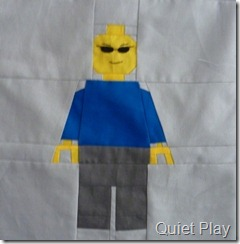 Blue minifig