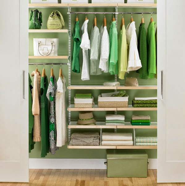 Closet Organization Green Small Closet Organization
