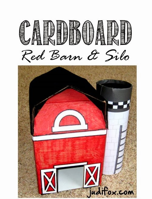Cardboard Red Barn and Silo Judi Fox Blog