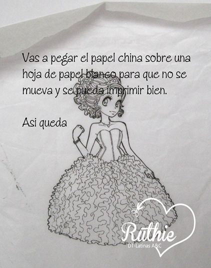 Tutorial usando una estampa digital en una vela - Digi stamp on a candle - Latinas Arts and Crafts - Ruthie Lopez DT 3