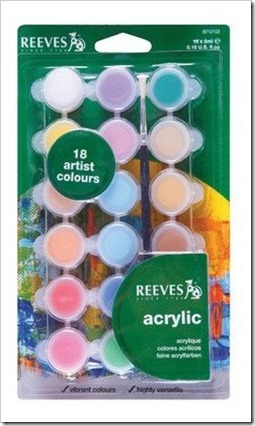 Reeves Acrylic paint set 18 colours