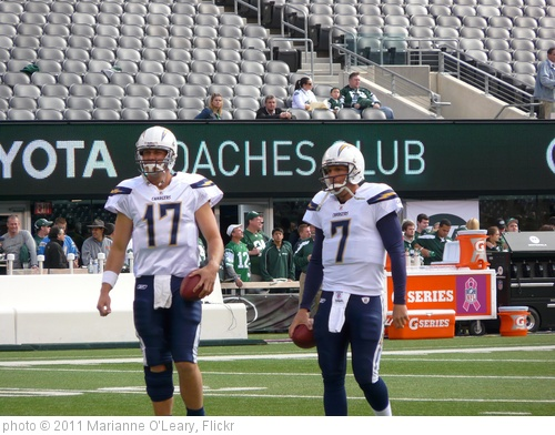 'San Diego Chargers Quarterbacks Phillip Rivers and Billy Volek' photo (c) 2011, Marianne O'Leary - license: http://creativecommons.org/licenses/by/2.0/