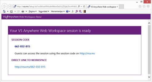 Web Workspace ready