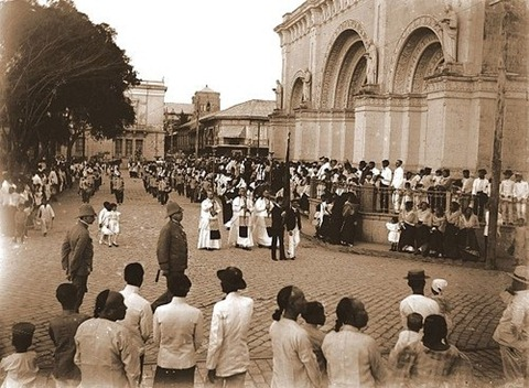 Procesión del Santo Entierro of Santo Domingo Church, Intramuros, Manila 1901