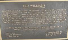Florida 2013 Ted Williams placque at JetBluePark