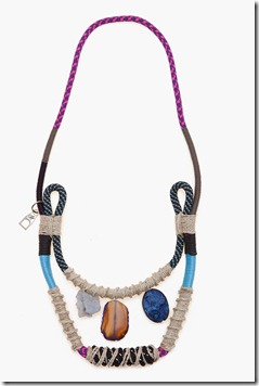 Proenza 1 stone row rope necklace