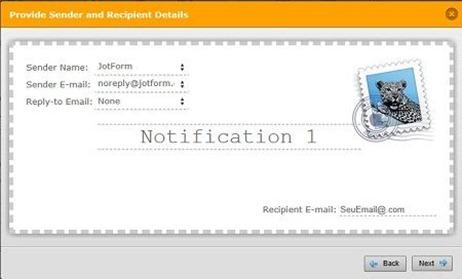 Configurando envio