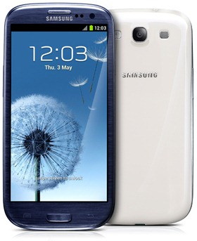 galaxy s3 front and back