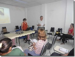 Aula inaugural do curso - professores e comunidade participaram do evento