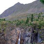 Водопад в долине Шумак