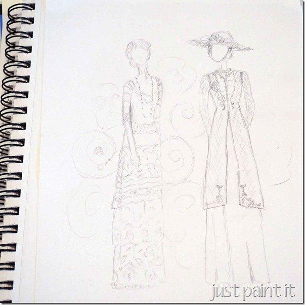 Downton-Abbey-Sketch-2