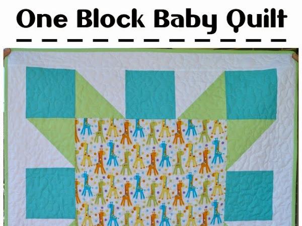 One Block Baby Quilt {Tutorial}