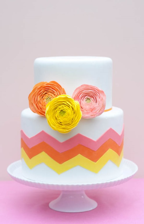 DIY Chevron Cake