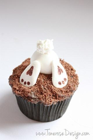 god påske lær å lage supersøt påskecupcakes harecupcake