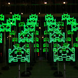 green invaders at nuit blanche in Toronto, Ontario, Canada