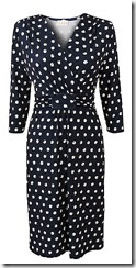 East Spot Jersey Wrap Dress