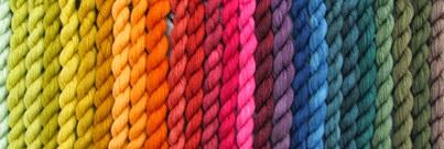 Pflanzenfärbungen auf Sockenwolle 230 4g